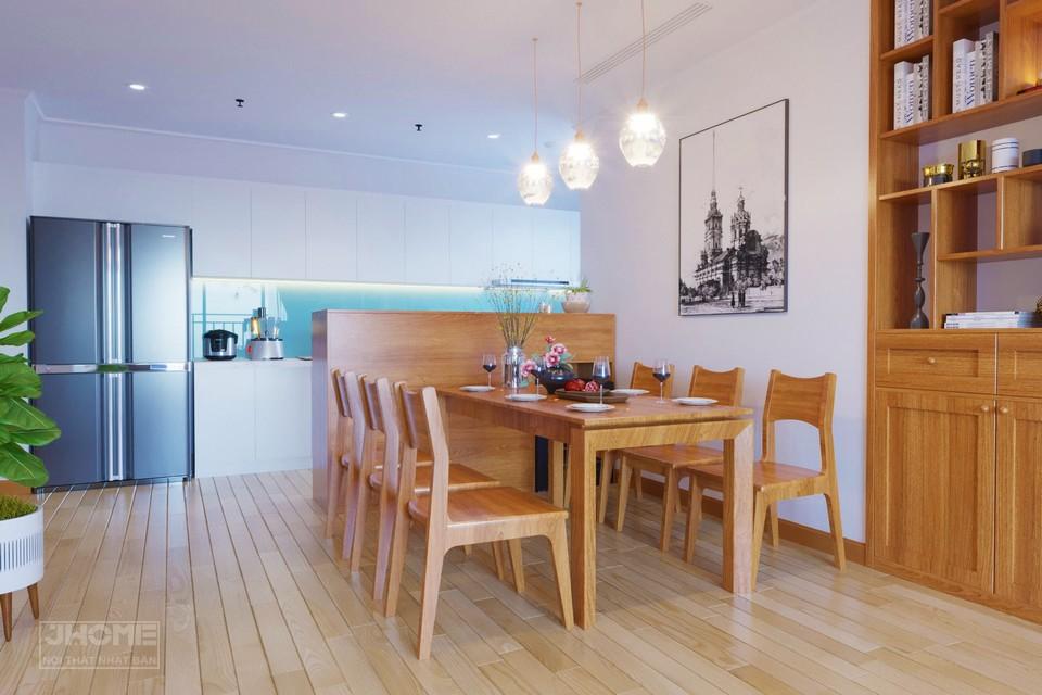 Mẫu bàn ghế gỗ phòng ăn