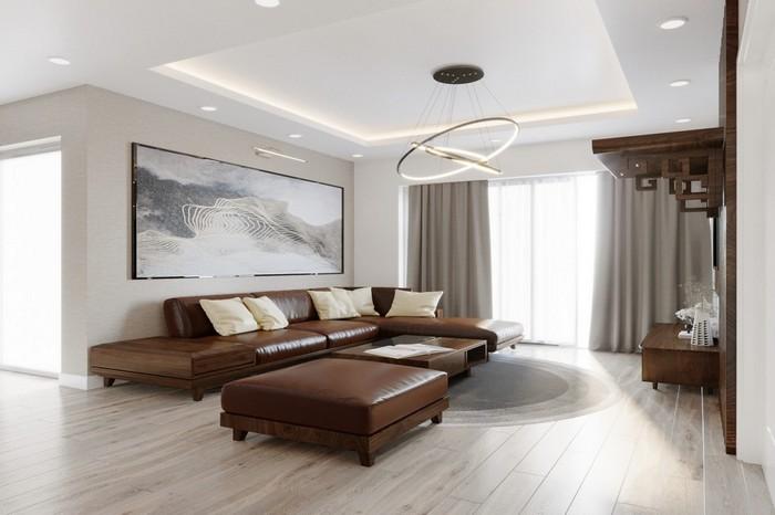Sofa gỗ óc chó nội thất phong cách Nhật
