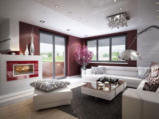 Mẫu phòng khách không gian ánh kim
