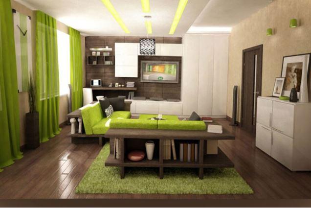 Mẫu phòng khách không gian xanh