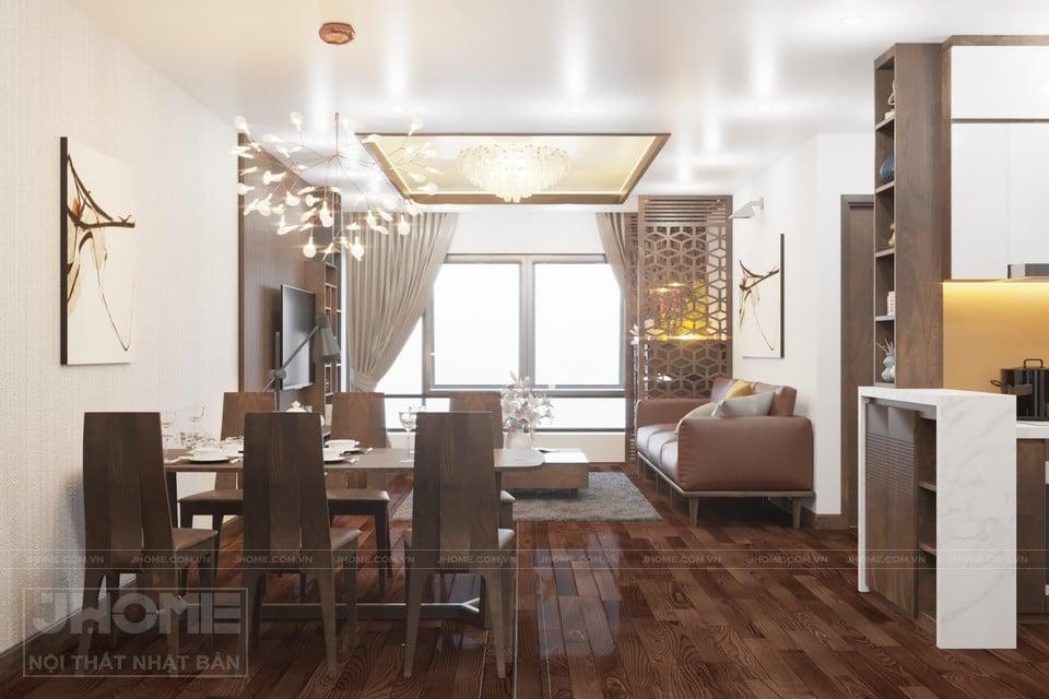 Nội thất phòng khách Nhật Bản được thiết kế nhiều ánh sáng