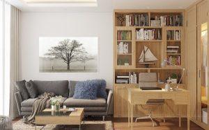 Nội thất phòng khách Nhật Bản ấm cúng