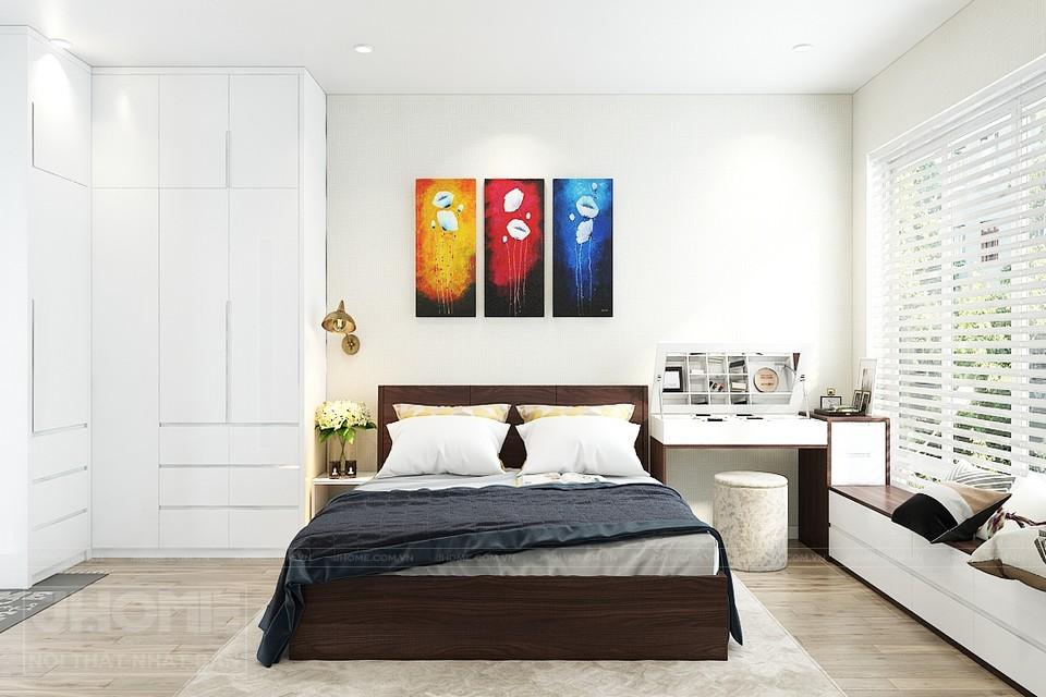 nội thất phòng ngủ đa sắc cơ bản