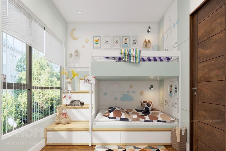 nội thất phòng ngủ không gian hẹp