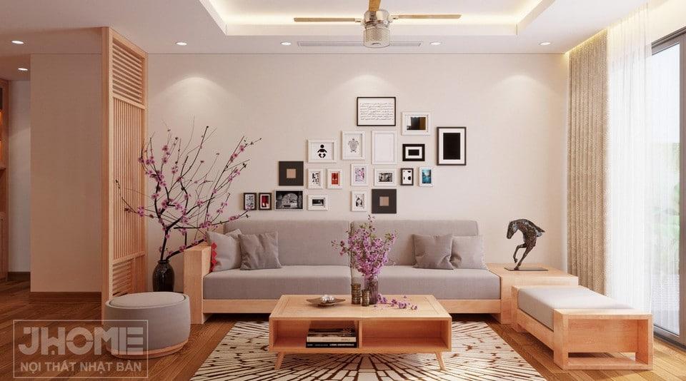 phòng khách tối giản hiện đại chung cư Vimeco