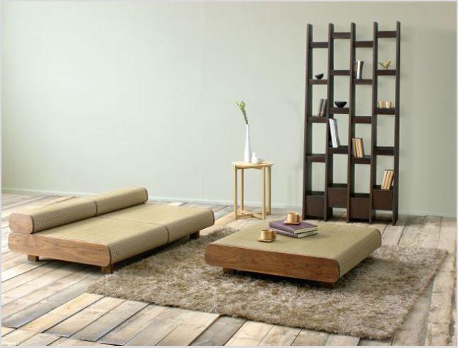 thiết kế nội thất kiểu Nhật mẫu phòng khách đơn giản
