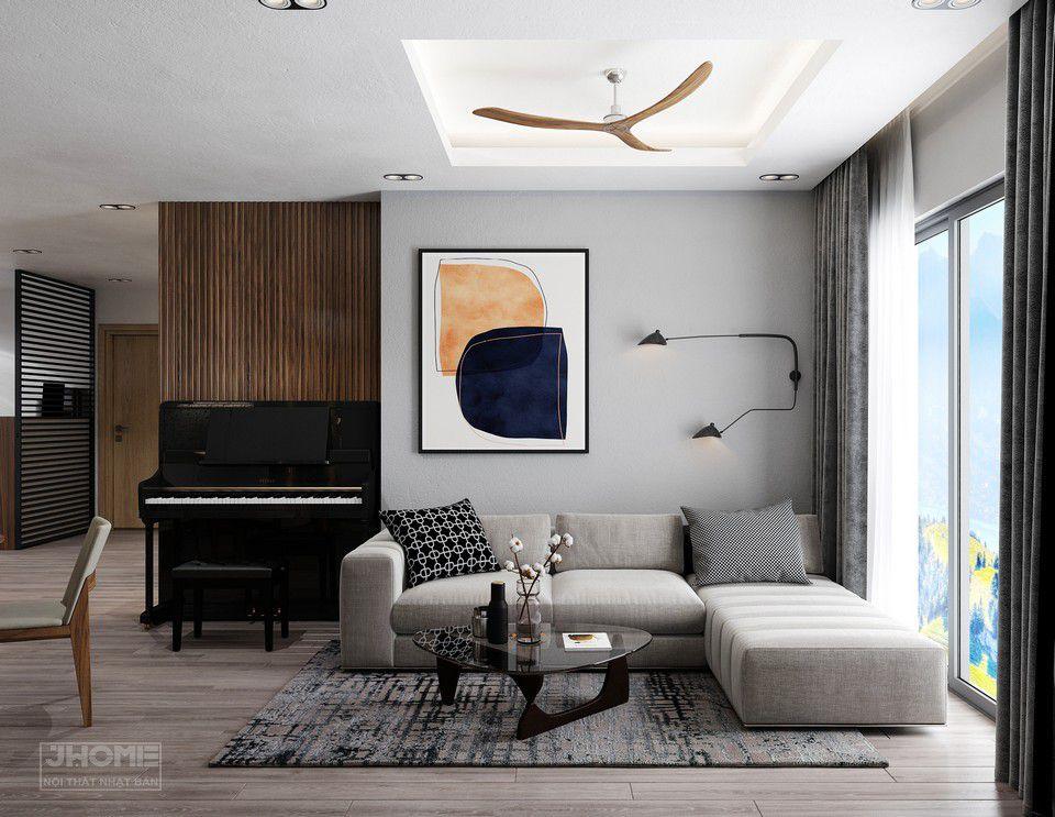 Bộ sofa + bàn trà phòng khách thiết kế hiện đại